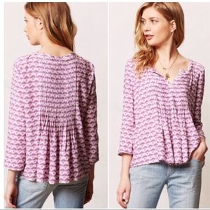 Anthropologie Vanessa Virginia Mahdia Peasant Top